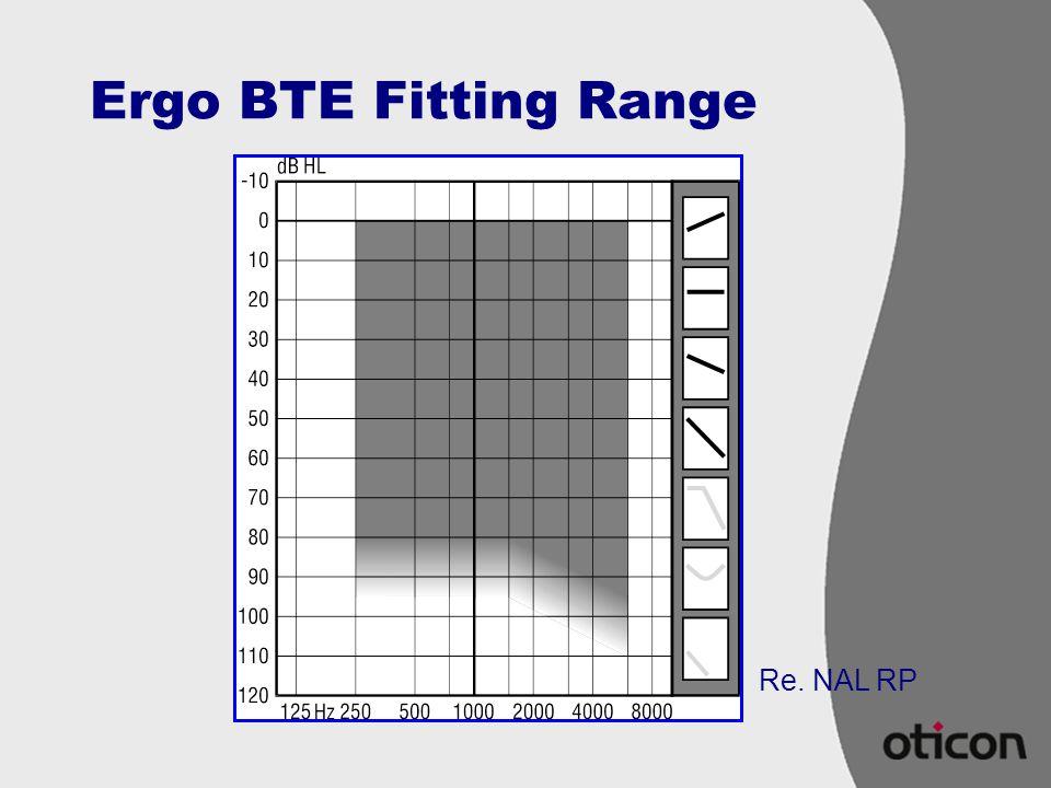 Ergo BTE Fitting Range Re. NAL RP