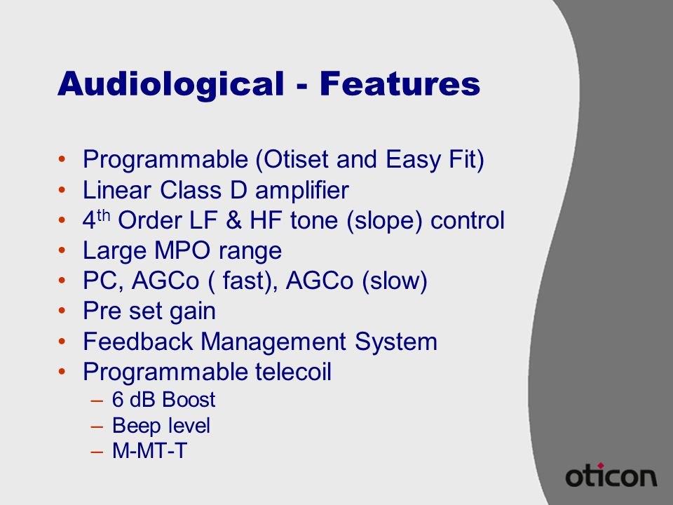 Audiological - Features