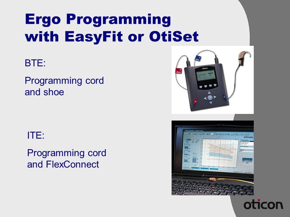 Ergo Programming with EasyFit or OtiSet