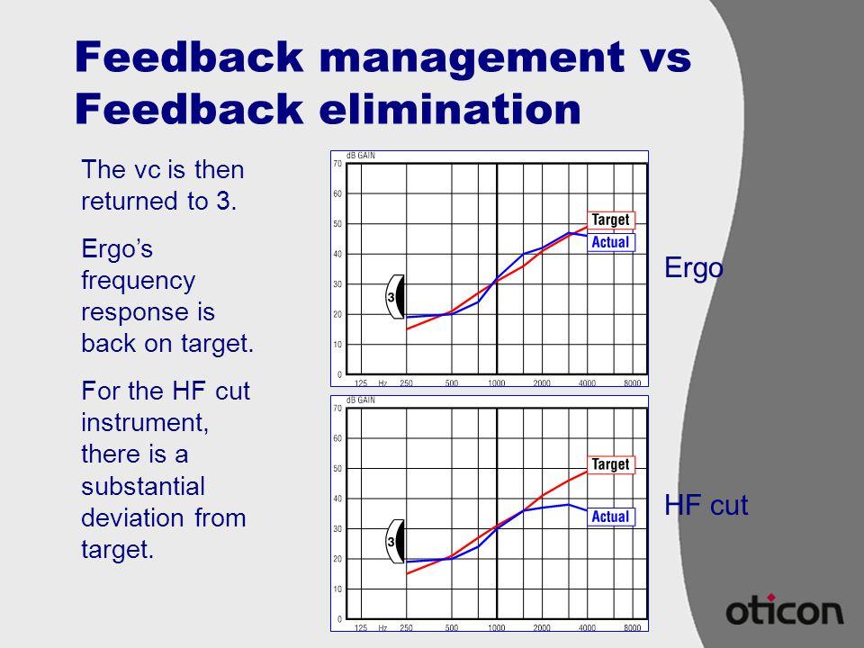 Feedback management vs Feedback elimination