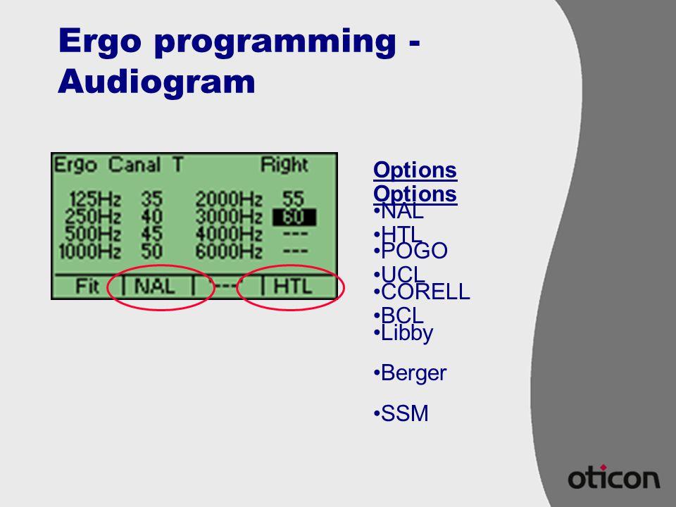 Ergo programming - Audiogram