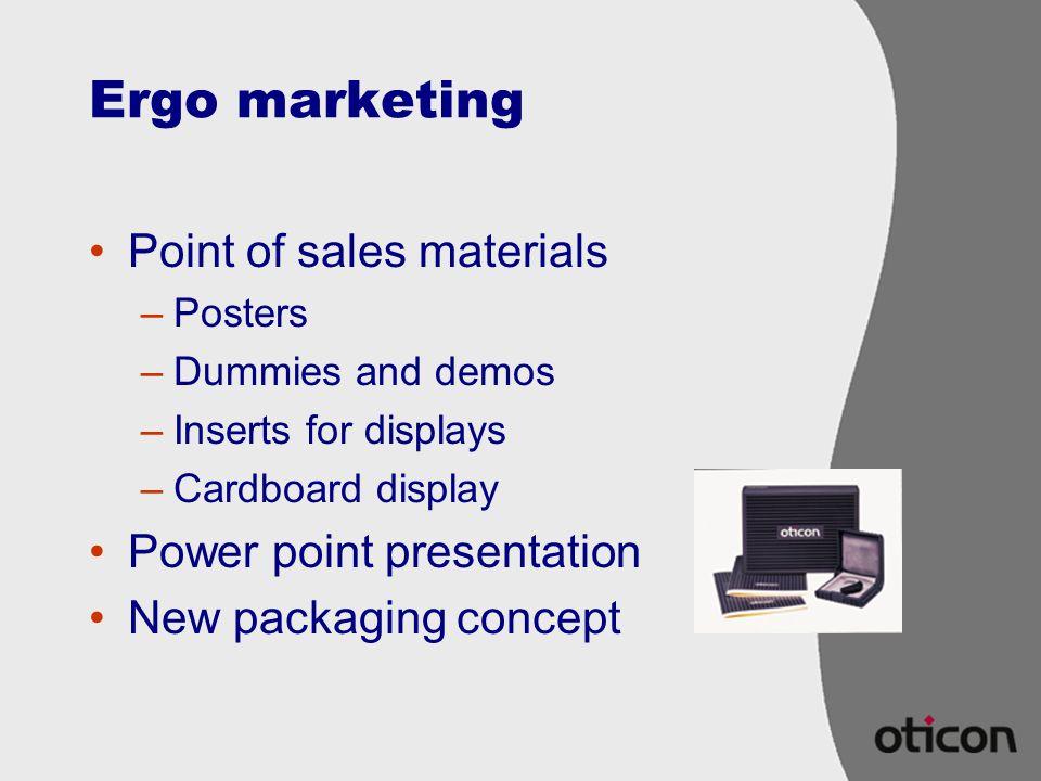 Ergo marketing Point of sales materials Power point presentation
