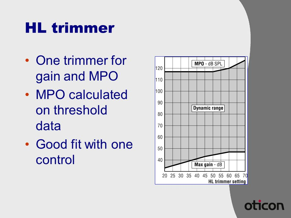 HL trimmer One trimmer for gain and MPO