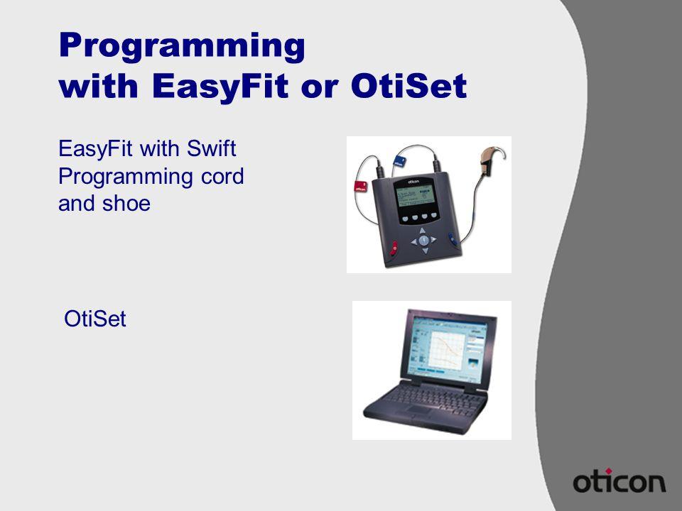 Programming with EasyFit or OtiSet