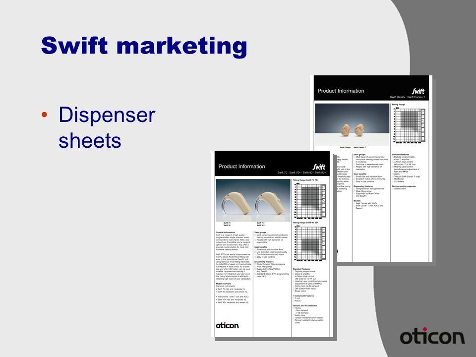 Swift marketing Dispenser sheets