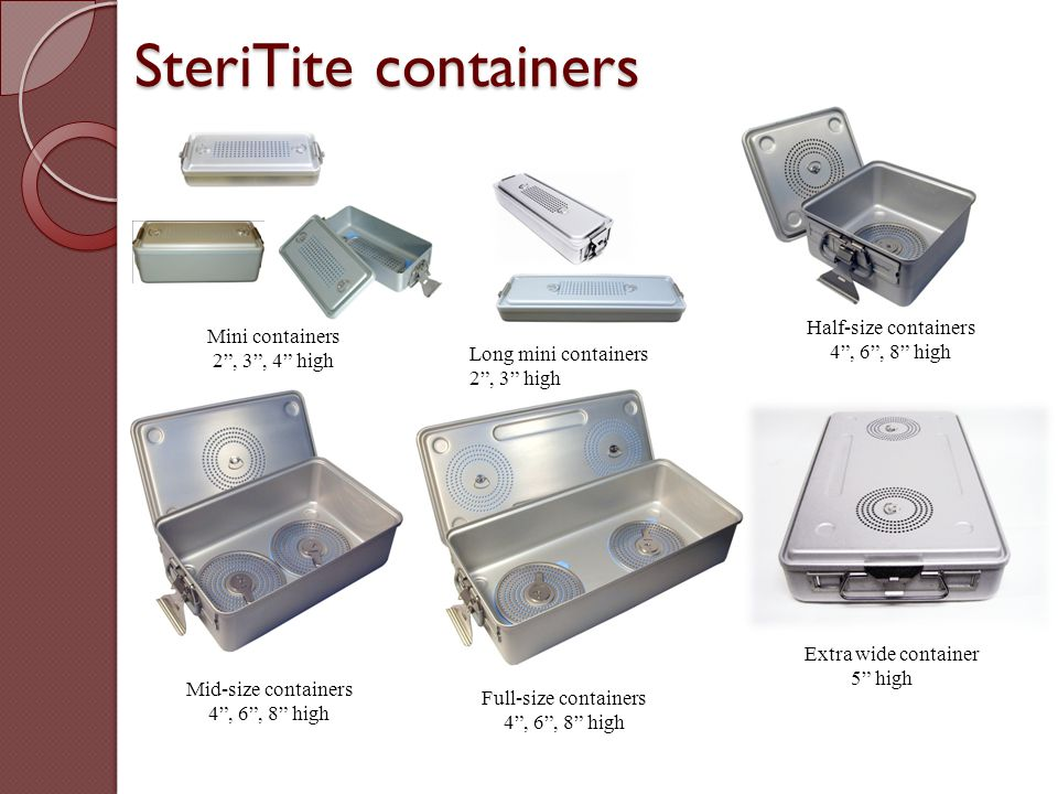 SteriTite containers Half-size containers Mini containers