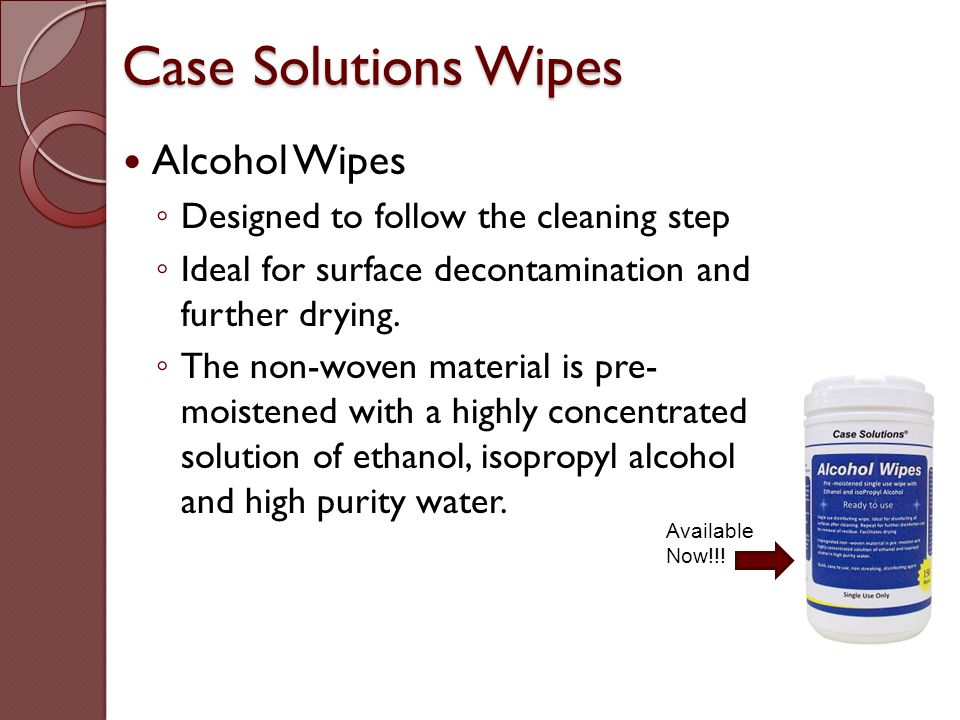 Case Solutions Wipes Alcohol Wipes