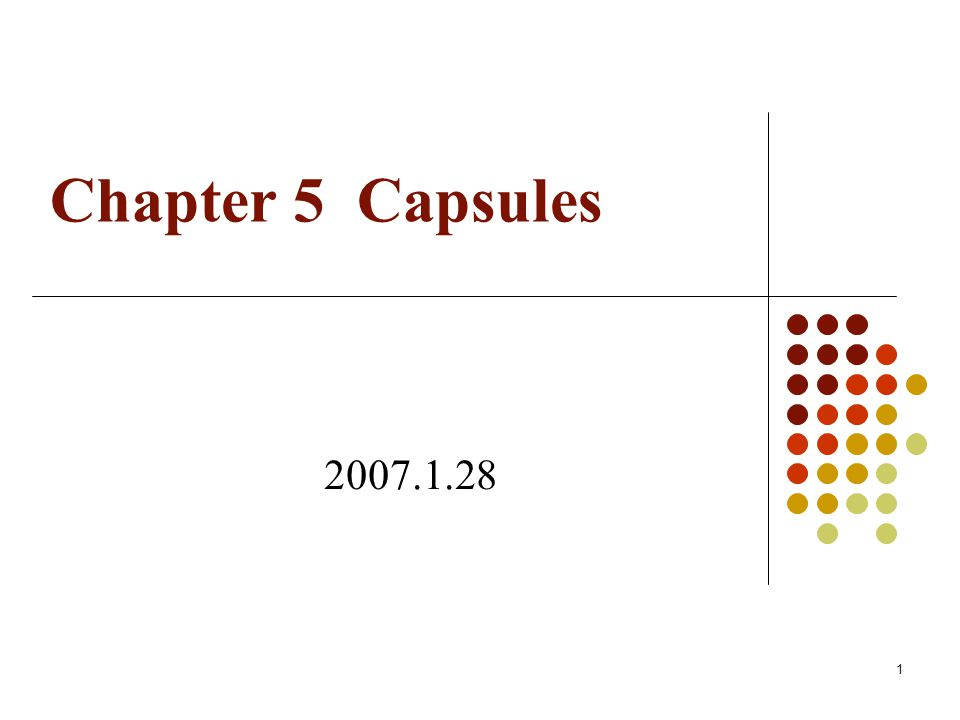 Chapter 5 Capsules 2007.1.28