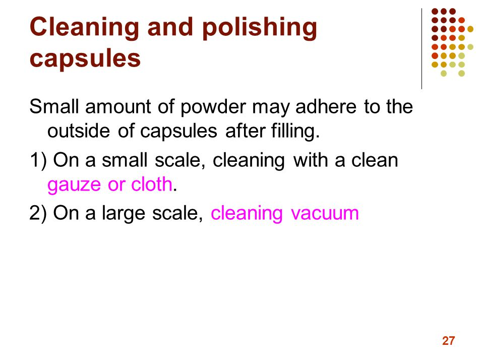 Cleaning and polishing capsules