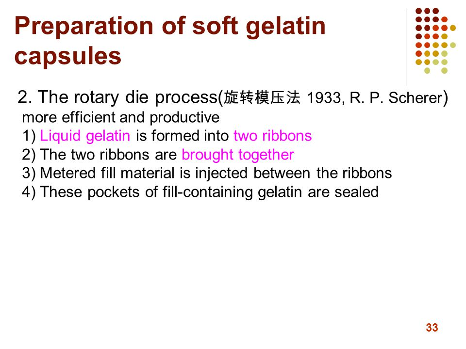 Preparation of soft gelatin capsules