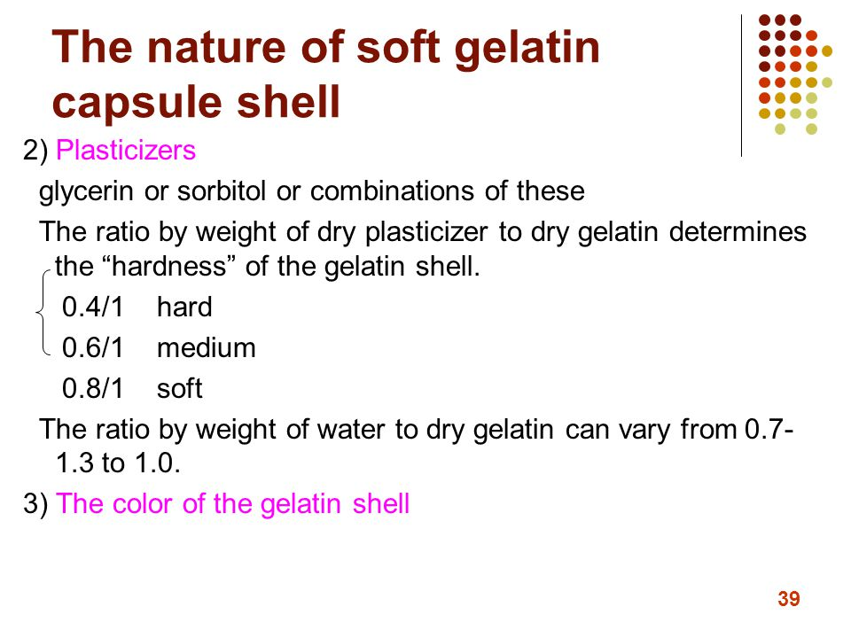 The nature of soft gelatin capsule shell