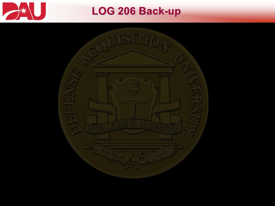 LOG 206 Back-up Intermediate Systems Sustainment Management