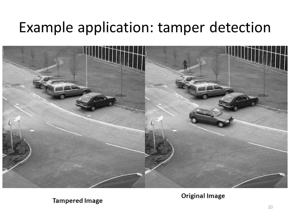 Example application: tamper detection