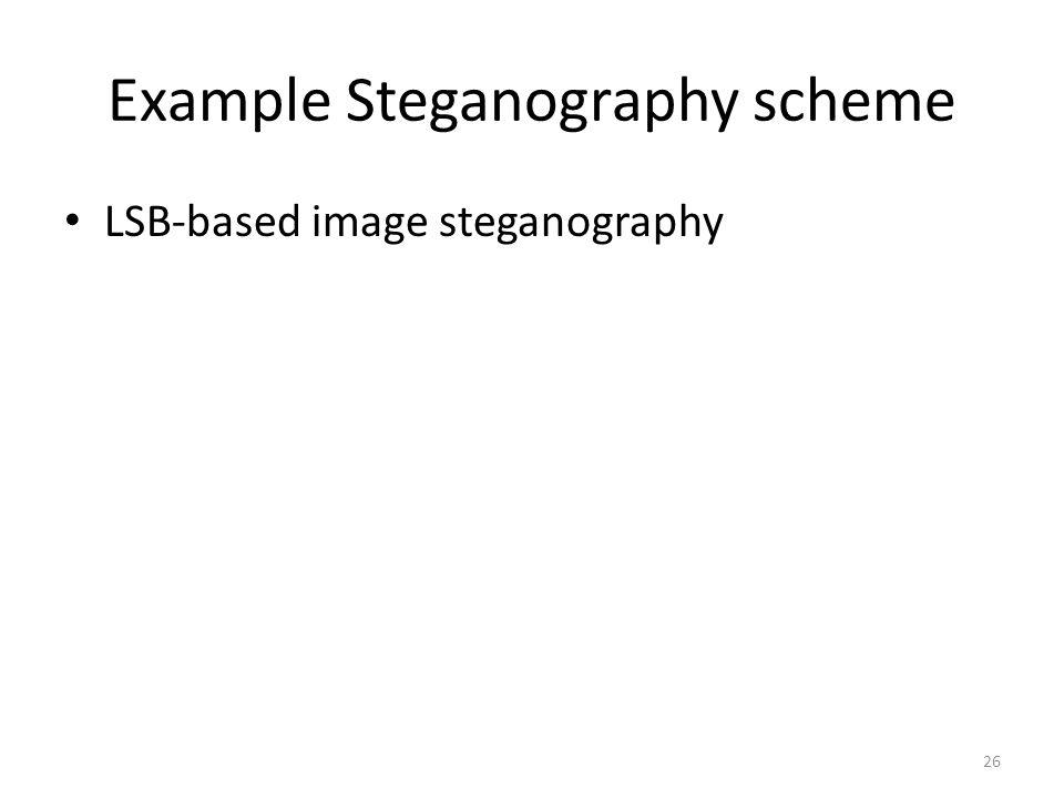 Example Steganography scheme