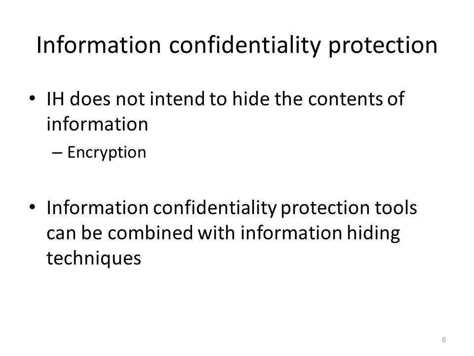Information confidentiality protection