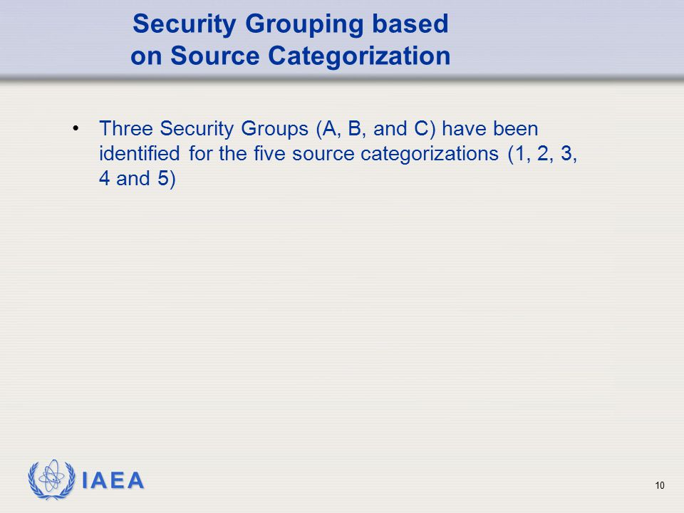 Security Grouping based on Source Categorization