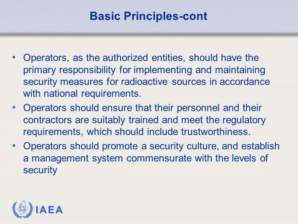 Basic Principles-cont