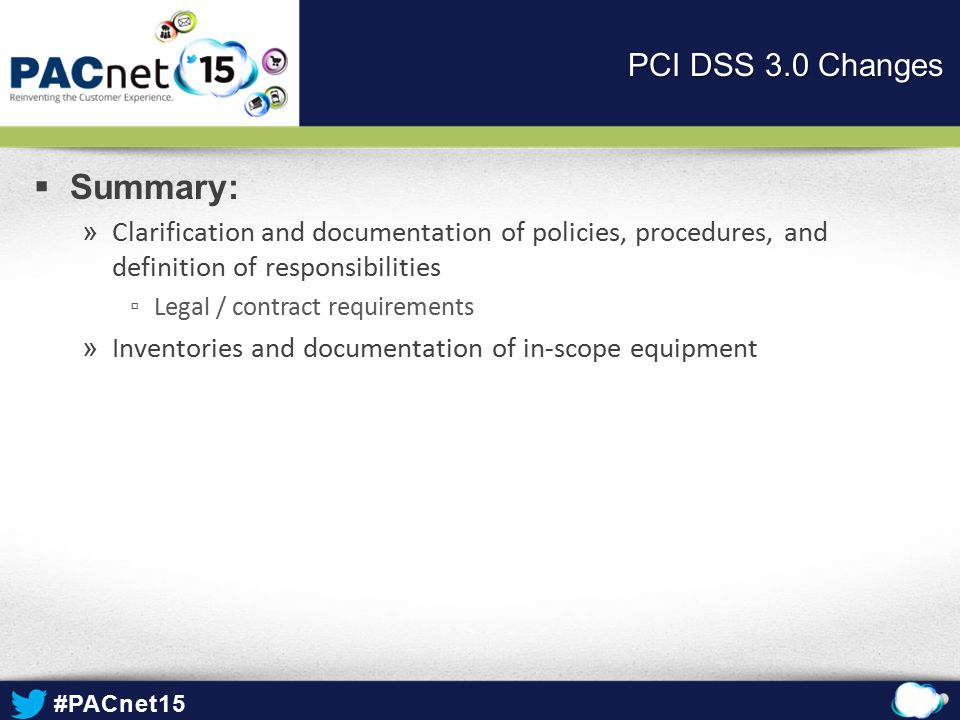 Summary: PCI DSS 3.0 Changes