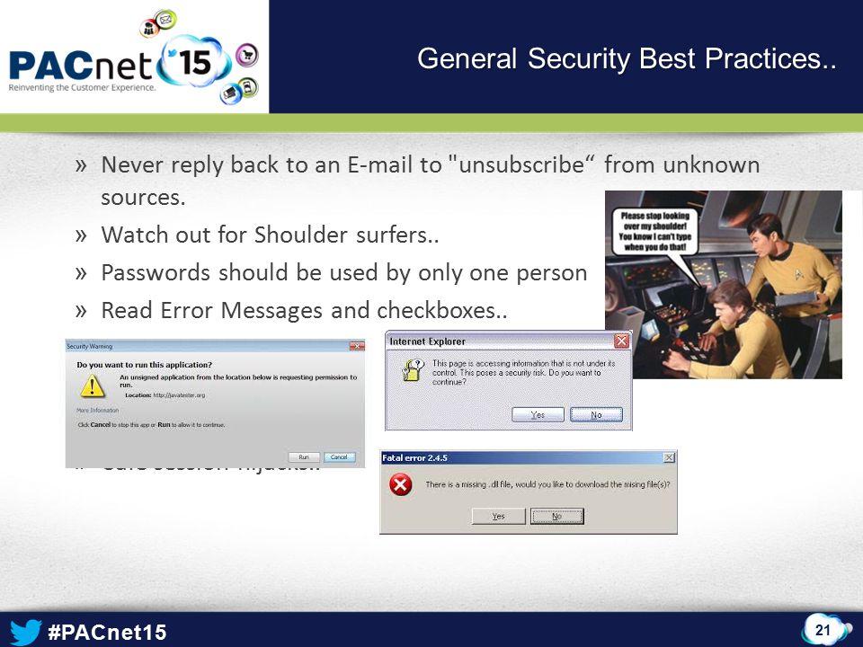 General Security Best Practices..