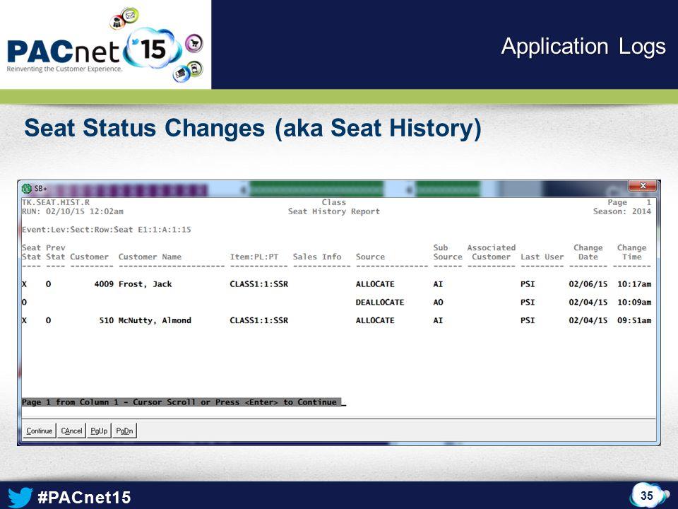 Seat Status Changes (aka Seat History)