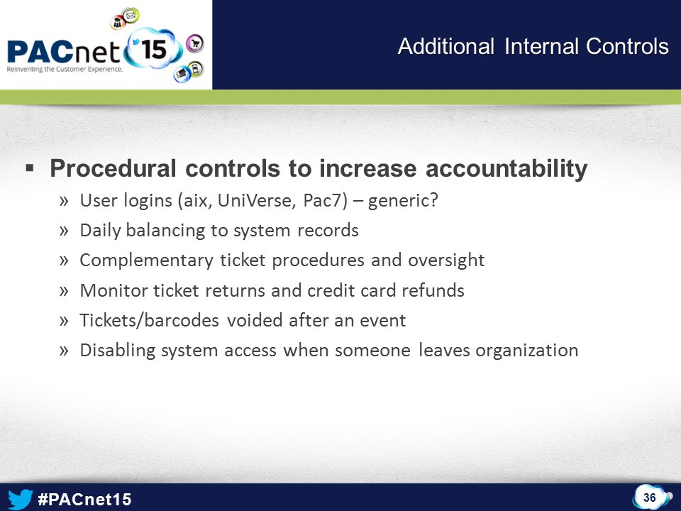Additional Internal Controls