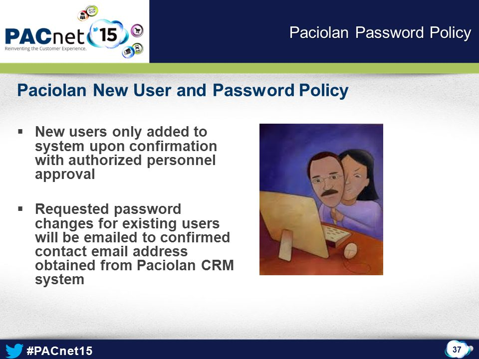 Paciolan Password Policy