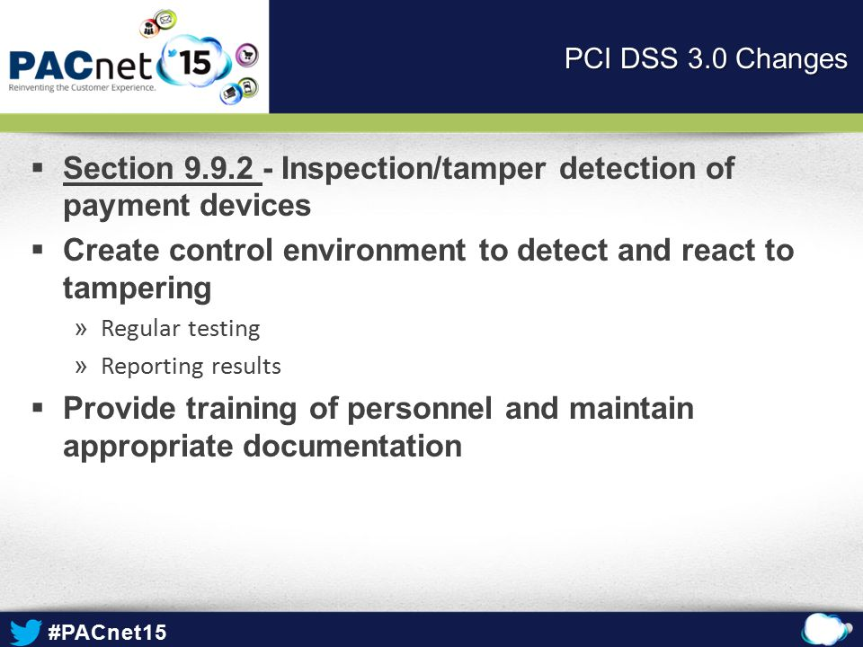 Section 9.9.2 - Inspection/tamper detection of payment devices