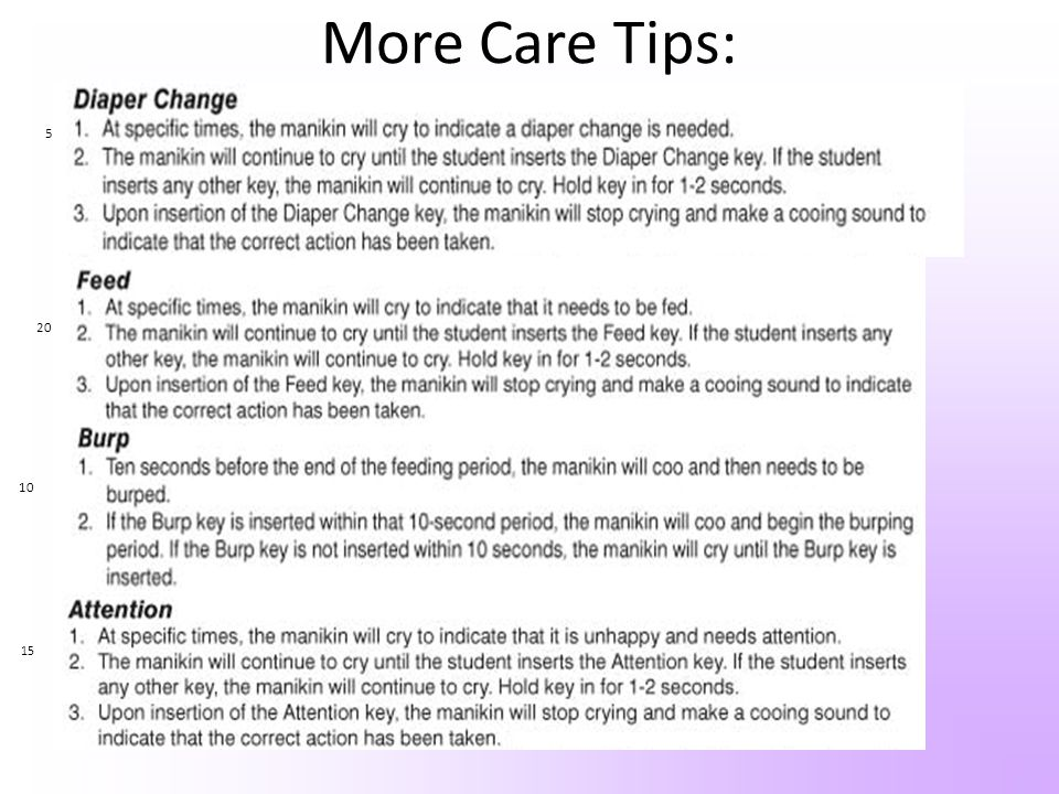 More Care Tips: 5 20 10 15