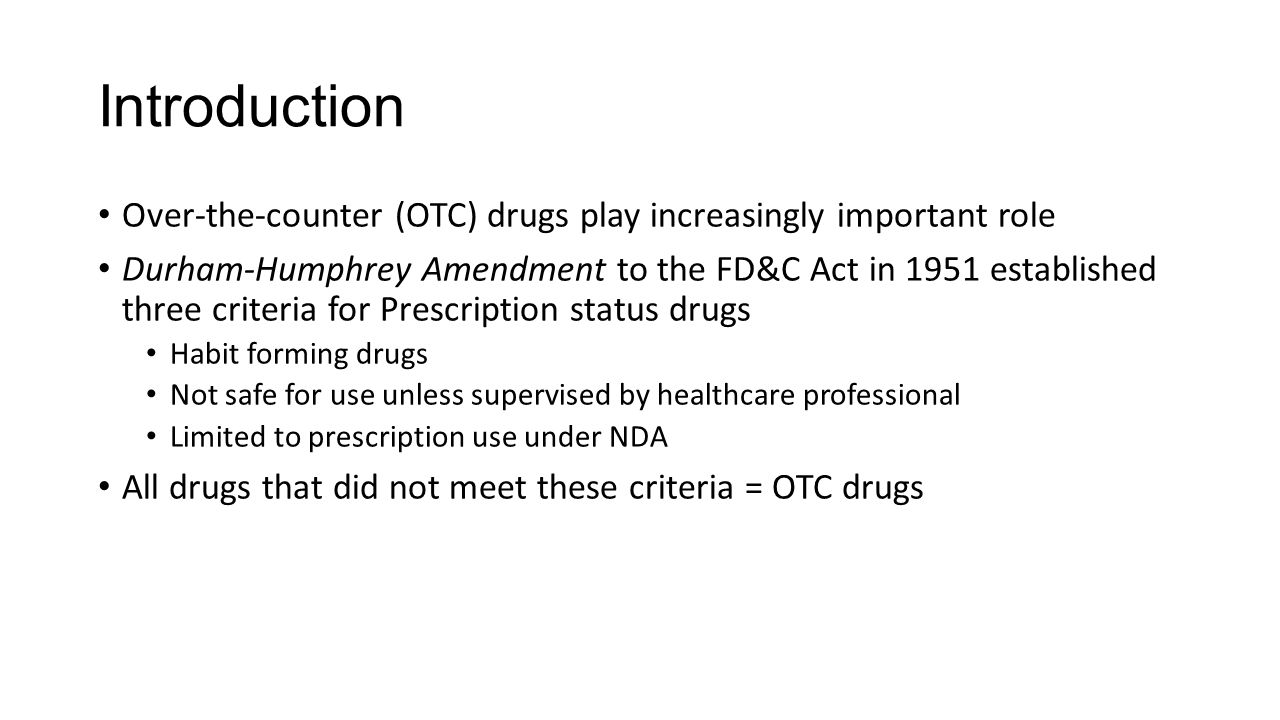 Introduction Over-the-counter (OTC) drugs play increasingly important role.