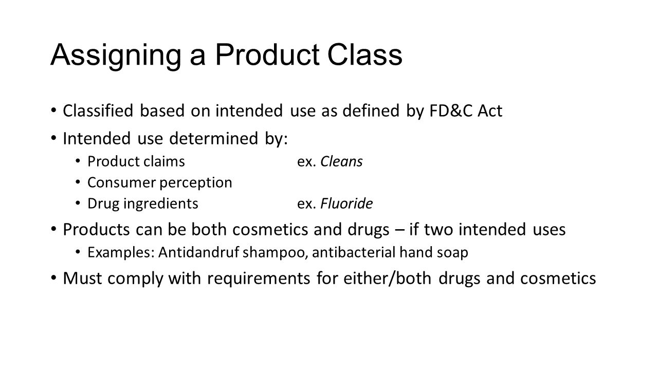Assigning a Product Class