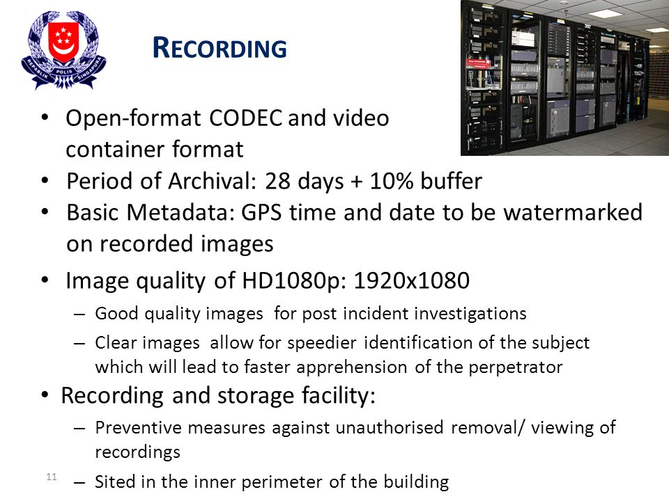 Recording Open-format CODEC and video container format