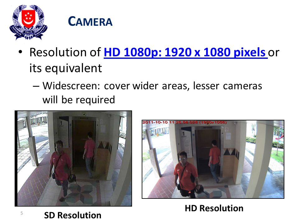 Camera Resolution of HD 1080p: 1920 x 1080 pixels or its equivalent