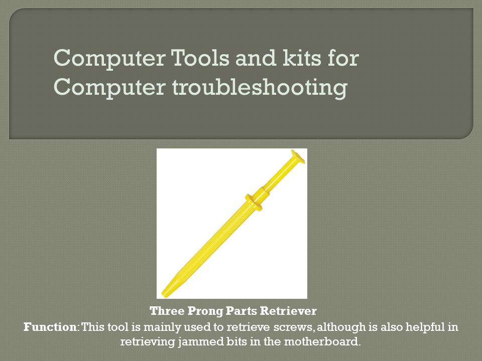 Computer Tools and kits for Computer troubleshooting
