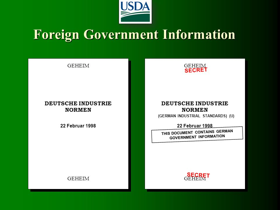 Foreign Government Information