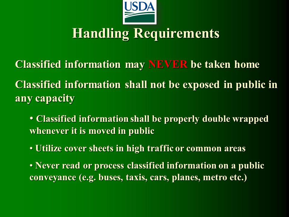 Handling Requirements