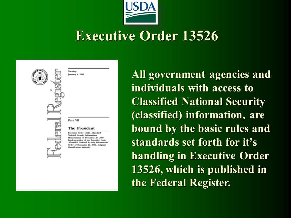 Executive Order 13526