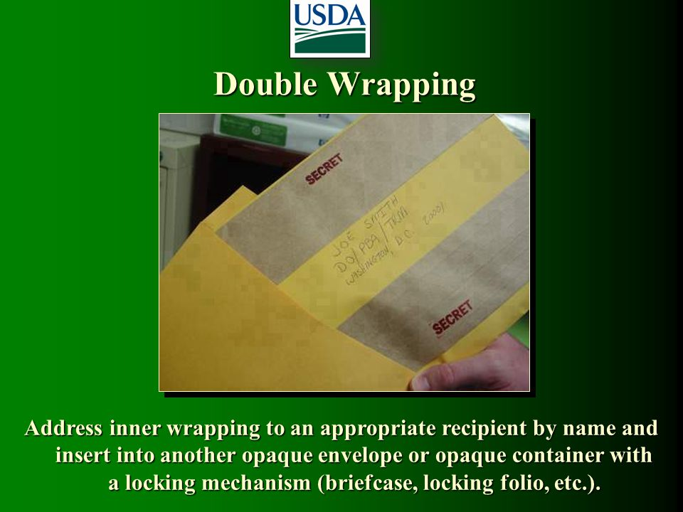 Double Wrapping