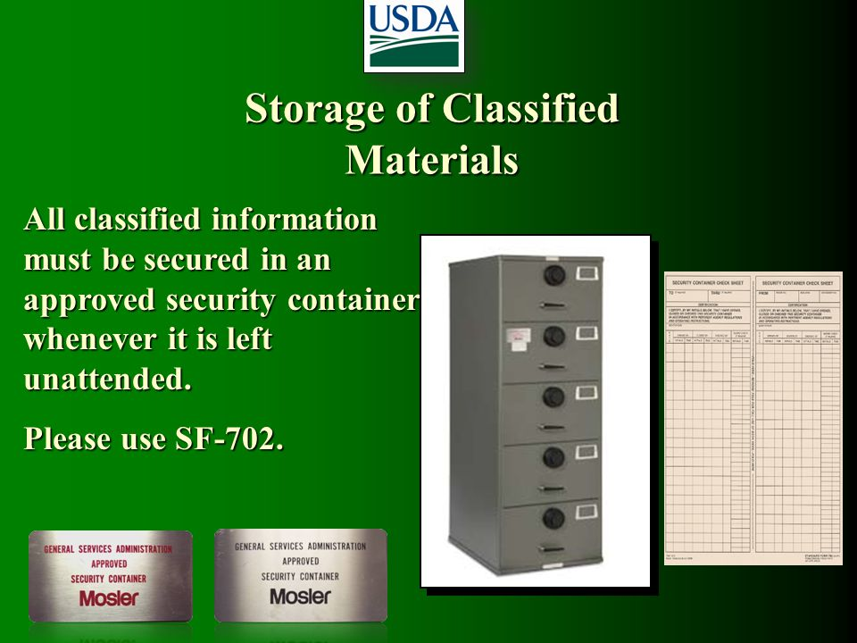 Storage of Classified Materials