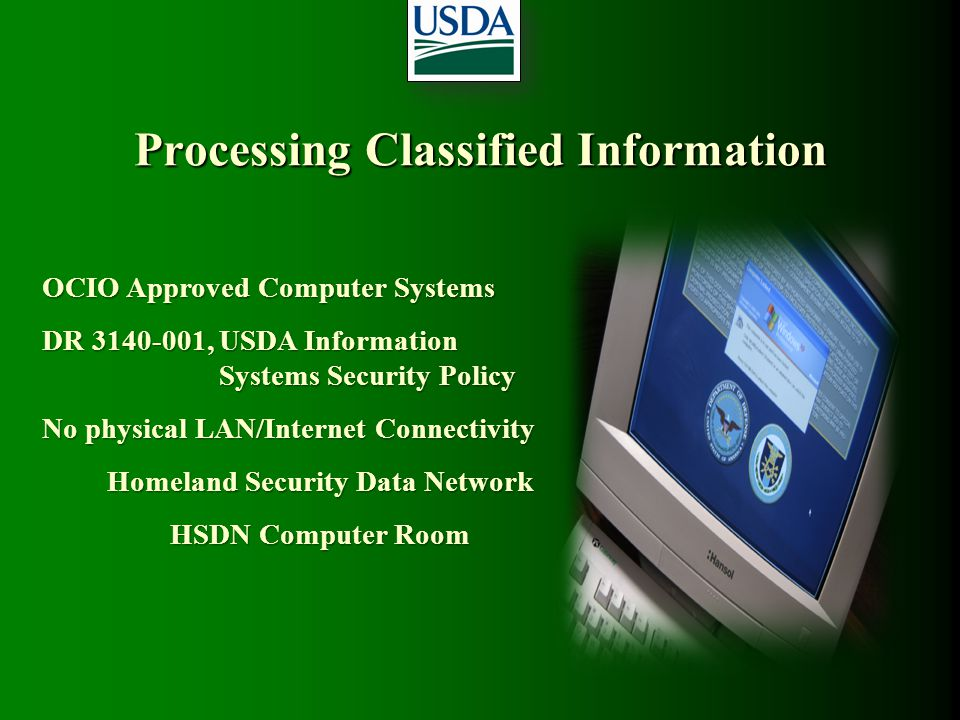 Processing Classified Information