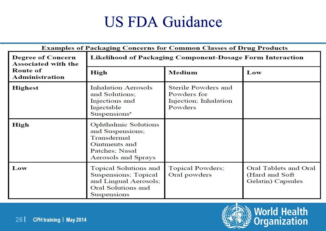 US FDA Guidance
