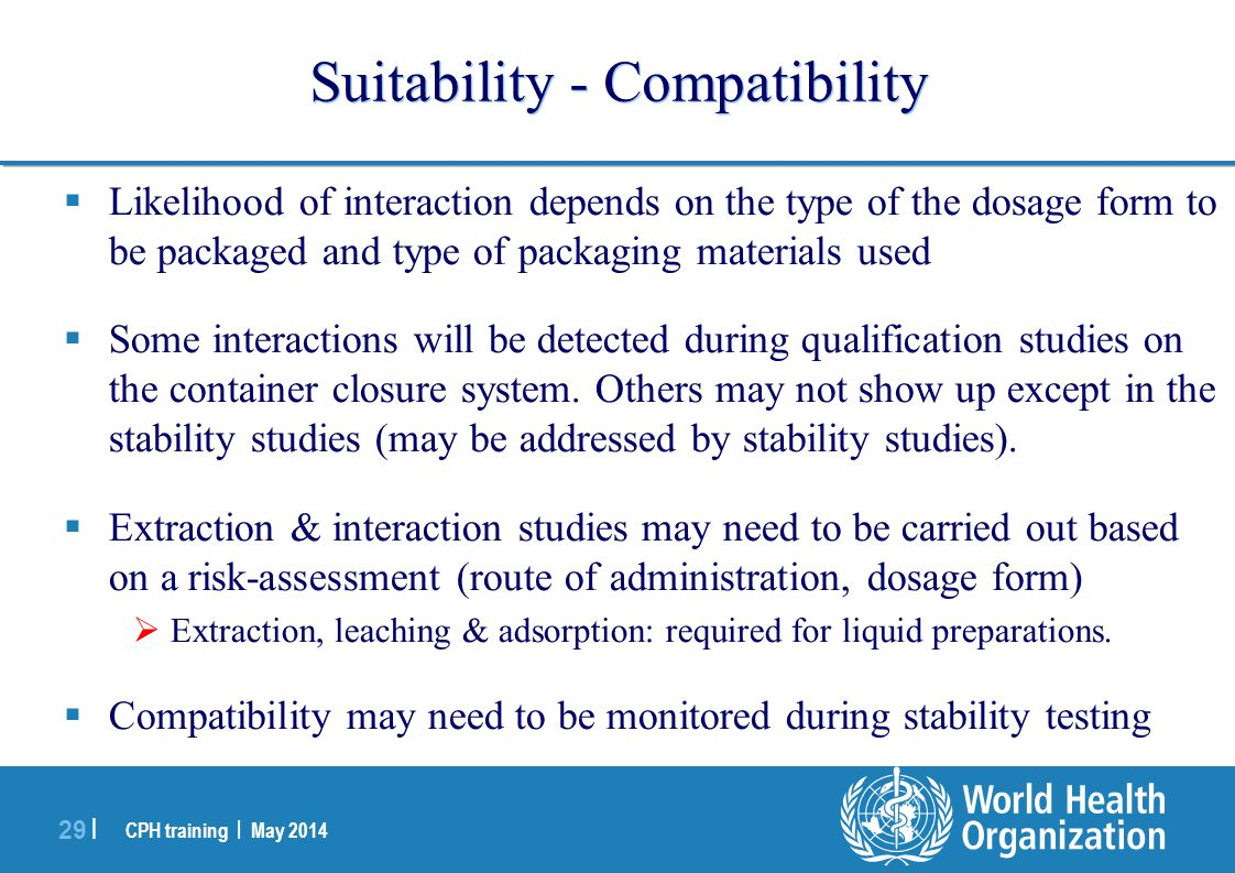 Suitability - Compatibility