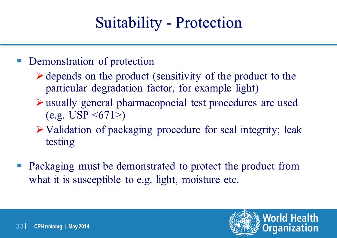 Suitability - Protection