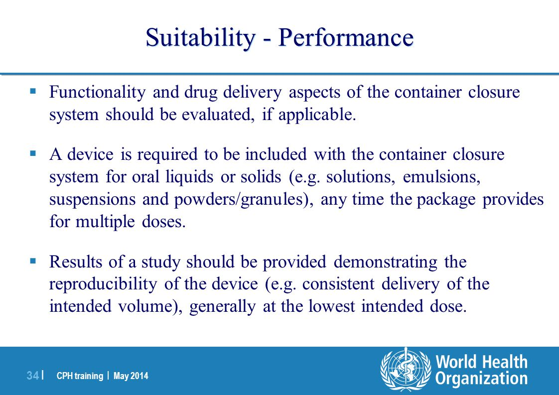 Suitability - Performance