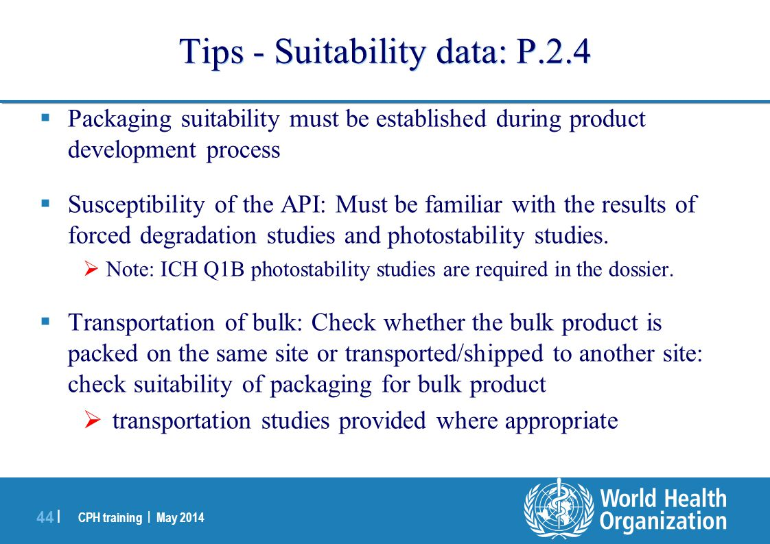 Tips - Suitability data: P.2.4