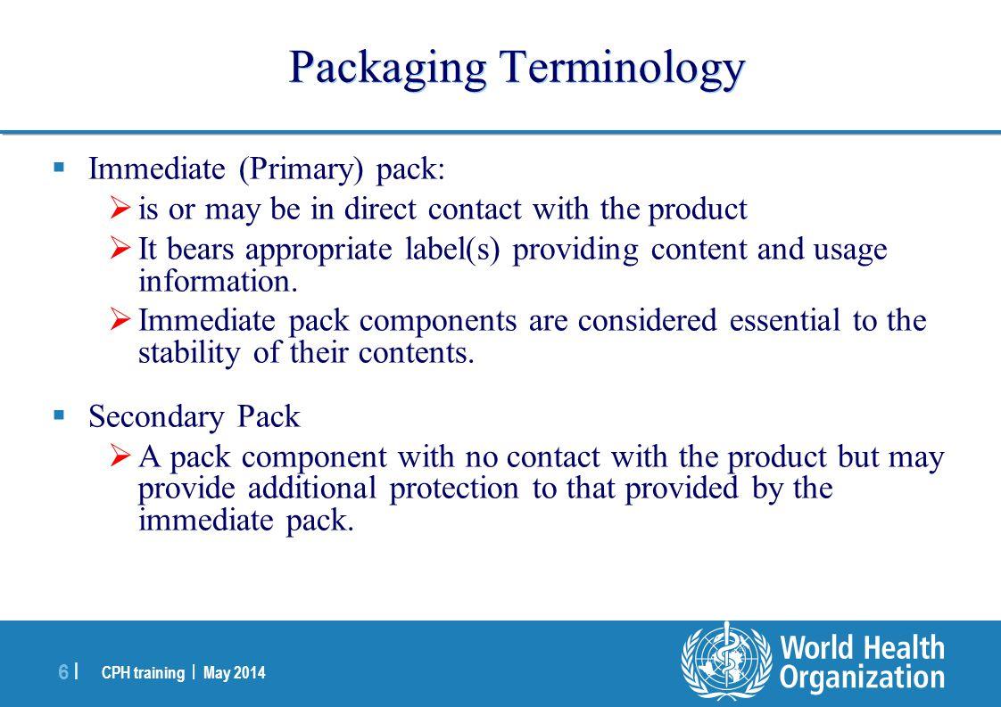 Packaging Terminology