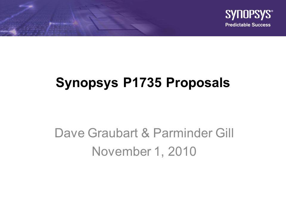 Dave Graubart & Parminder Gill November 1, 2010