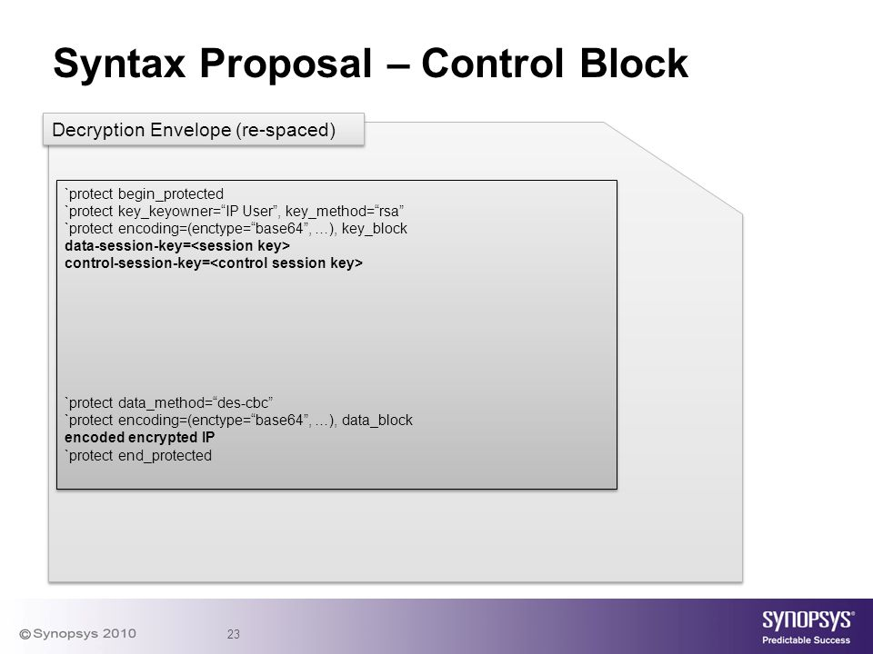 Syntax Proposal – Control Block