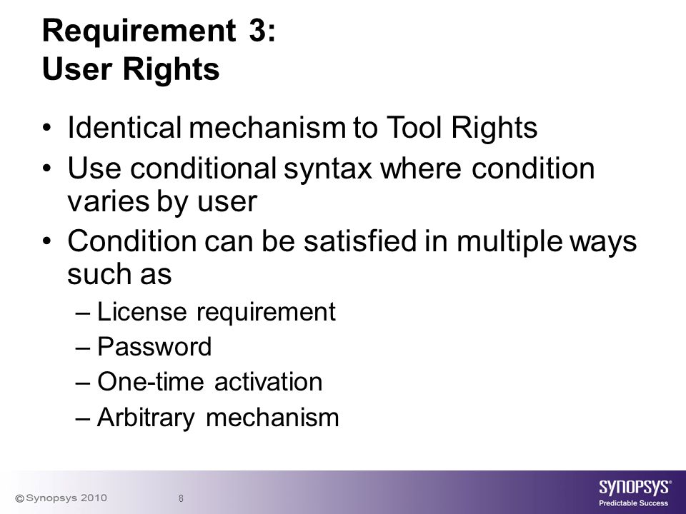 Requirement 3: User Rights