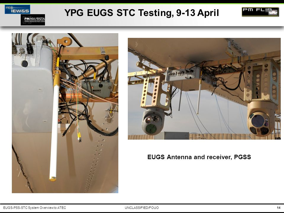 YPG EUGS STC Testing, 9-13 April