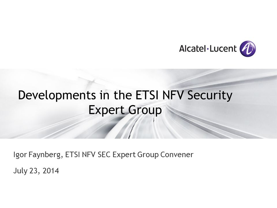 Developments in the ETSI NFV Security Expert Group